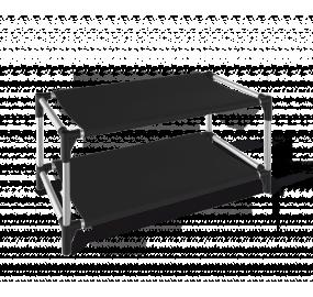 Полка для обуви Sheffilton SHT-SR4 черный/хром лак/черный