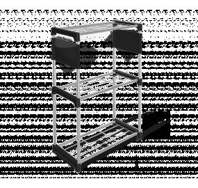 Стеллаж Sheffilton SHT-SS4 черный/хром лак/черный