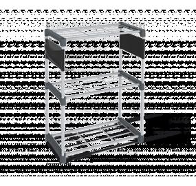 Стеллаж Sheffilton SHT-SS4-P темно-серый/серый/черный