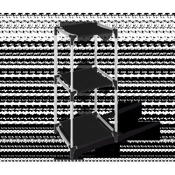 Стеллаж Sheffilton SHT-SS7 черный/хром лак/черный