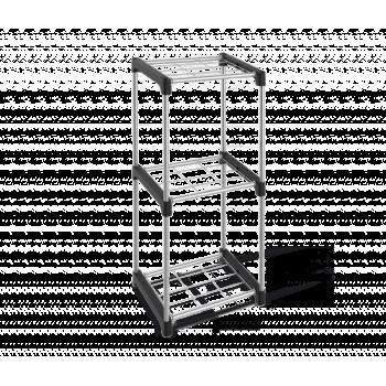 Стеллаж Sheffilton SHT-SS6 черный/хром лак