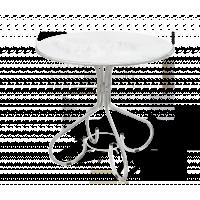 Стол Sheffilton SHT-T8 белый/патина серебро