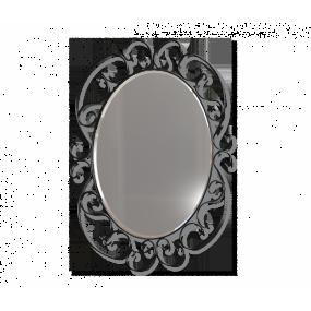 Зеркало Sheffilton Грация 630, черный