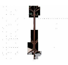 Вешалка Sheffilton SHT-642, коричневый муар/черный