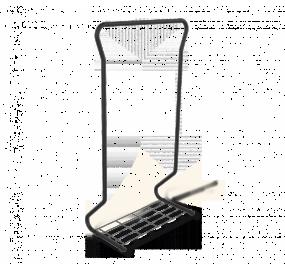 Вешалка Sheffilton SHT-WR565, черный муар/серый