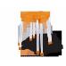 Табурет Sheffilton SHT-S36 оранжевый/серый
