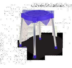 Табурет Sheffilton SHT-S36 синий/хром