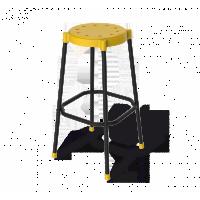 Стул барный Sheffilton SHT-S48 желтый/черный муар