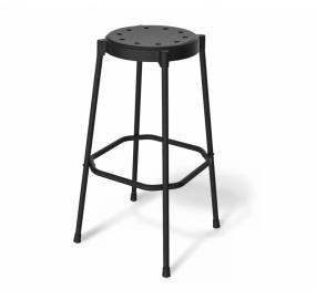 Стул барный Sheffilton SHT-S48 черный/черный муар