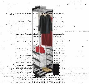Вешалка Sheffilton SHT-WR12, черный/хром лак