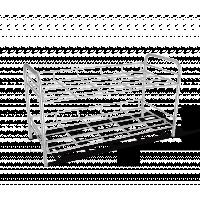 Полка д/обуви Sheffilton SHT-639-2 хром лак/черный