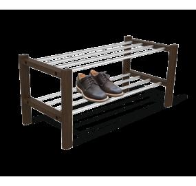 Полка для обуви Sheffilton Альберо SHT-SR9 венге/алюм.метал