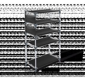 Стеллаж Sheffilton SHT-SS13-P темно-серый/серый/черный