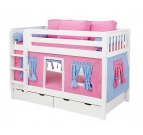 Детская двухъярусная кровать Мальвина с лестницей