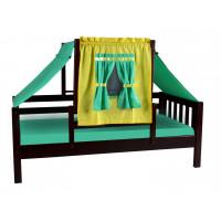 Кровать игровая из натурального дерева Кнопа-1