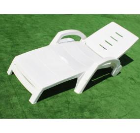 Шезлонг-лежак складной на колесах с ящиком